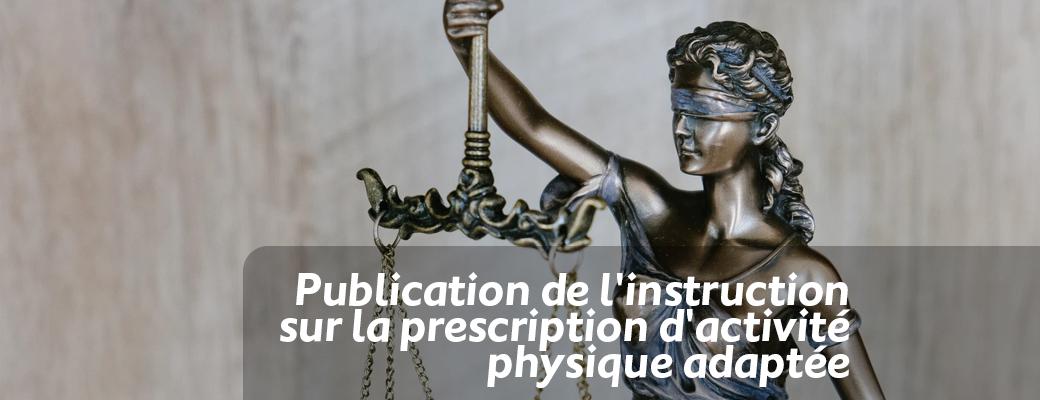Publication de l'instruction sur la prescription d'activité physique adaptée