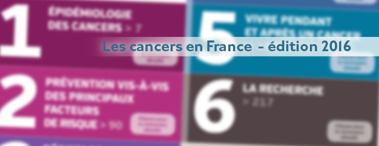 Les cancers en France – édition 2016