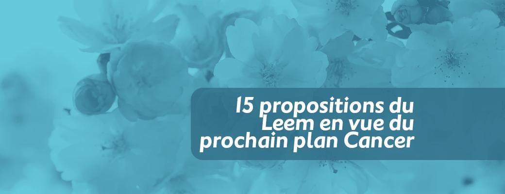 15 propositions du Leem en vue du prochain plan Cancer